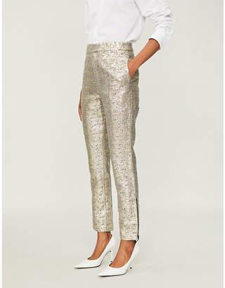 HUISHAN ZHANG Auguste tapered metallic wool-blend trousers