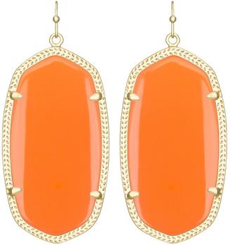 Danielle Earrings in Orange $65 thestylecure.com