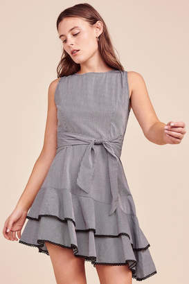 BB Dakota Gingham Tie-Front Dress