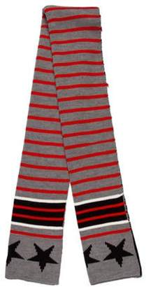 Givenchy Star & Striped Wool Scarf red Star & Striped Wool Scarf