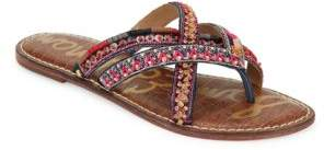 Sam Edelman Karly Beaded Leather Sandals $90 thestylecure.com
