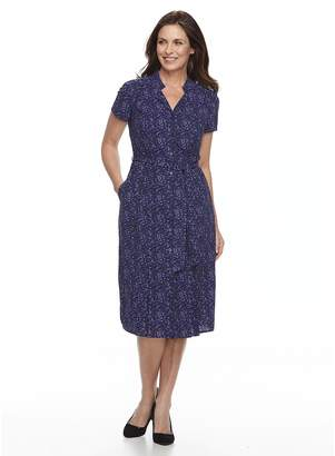 Dana Buchman Women's Notch Collar Dress