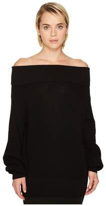 Fuzzi Long Sleeve Off the Shoulder Merino Knit Sweater Women's Sweater