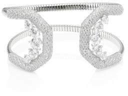 Adriana Orsini Pave Crystal Flexible Cuff Bracelet