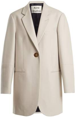 Acne Studios Klarah notch-lapel wool-blend flannel coat