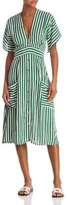 Faithfull The Brand Milan Striped Midi Dress