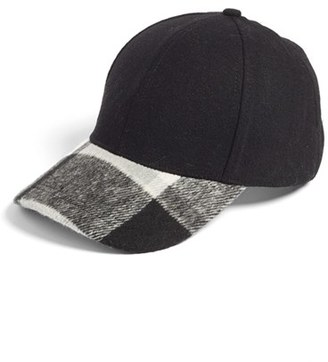 Women's Bp. Plaid Brim Ball Cap - Black $25 thestylecure.com