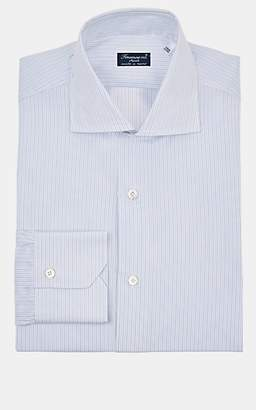 Finamore Men's Pinstriped Cotton Dress Shirt - Blue