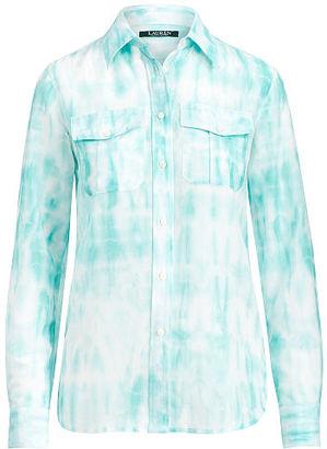 Ralph Lauren Lauren Tie-Dye Button-Down Shirt $89.50 thestylecure.com