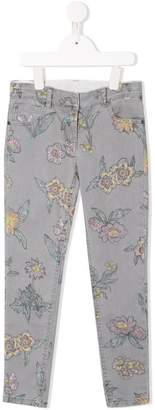 Stella McCartney floral jeans