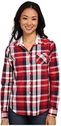 U.S. Polo Assn. Women's Plaid Woven Shirt Button-up Shirt SM