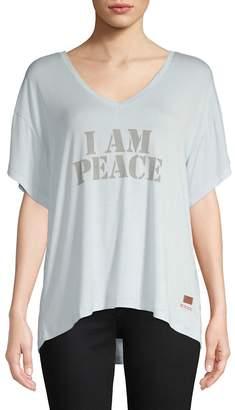 Peace Love World Women's I Am Peace V-Neck Top