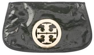 Tory Burch Patent Leather Logo Clutch