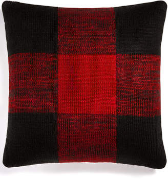 "Martha Stewart Collection Closeout! Collection Buffalo Check 20"" Square Decorative Pillow, Created for Macy's Bedding"