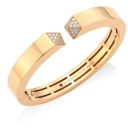 Roberto Coin Sauvage Prive Diamond& 18K Rose Gold Bangle