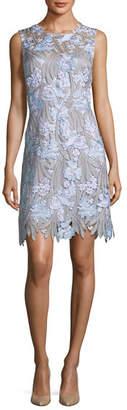 Elie Tahari Tallulah Floral-Appliqué; Sleeveless Dress