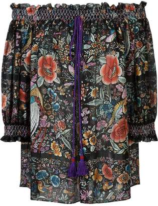 Roberto Cavalli floral print off-shoulder blouse