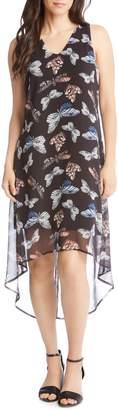 Karen Kane Print High/Low Dress