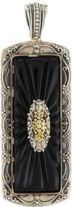 Konstantino Iris Silver & 18k Carved Onyx Rectangle Pendant Enhancer