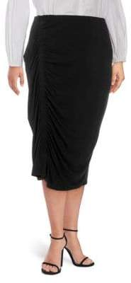 Vince Camuto Plus Asymmetric Ruched Skirt