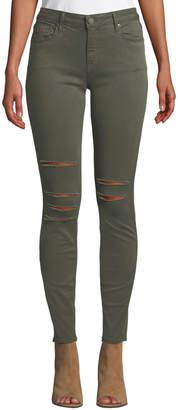 Parker Smith Kam Mid-Rise Slashed Skinny Jeans