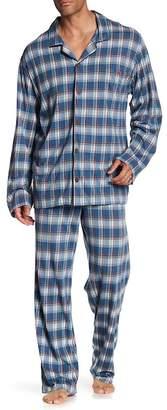 Tommy Bahama Notched Collar Plaid Print Pajama 2-Piece Set