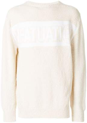 Stella McCartney slogan back sweater