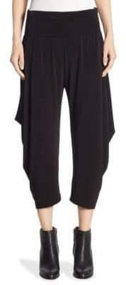 Issey Miyake Draped Jersey Cropped Trousers