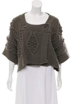 Stella McCartney Virgin Wool Cable Knit Cardigan