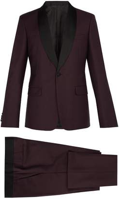 Prada Contrast-panel single-breasted mohair-blend suit