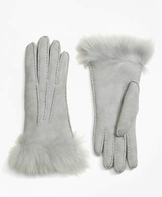 Brooks Brothers Shearling Gloves