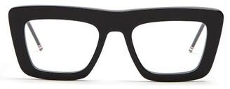 Thom Browne D Frame Glasses - Mens - Black