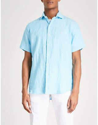 Polo Ralph Lauren Logo-embroidered regular-fit linen shirt