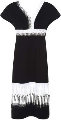 Christopher Kane Loop-lace short-sleeved midi dress
