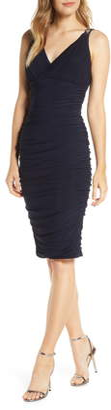 Eliza J Sleeveless Ruched Body-Con Dress