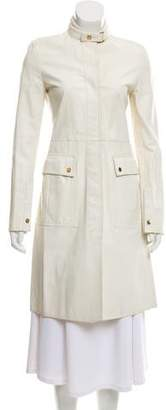 Gucci Leather Knee-Length Coat