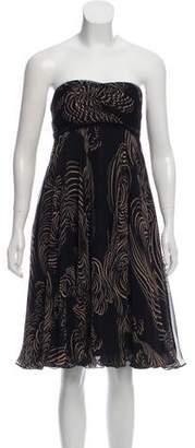 Marchesa Strapless Silk Dress