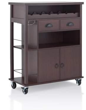 Furniture of America Beltran Transitional Serving Cart, Espresso