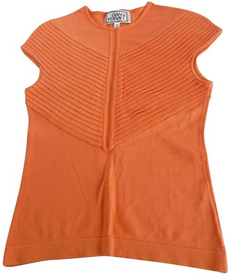 Gianni Versace Orange Cotton Top for Women