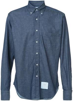 Thom Browne Regular Fit Long Sleeve Shirt In Shirting Denim