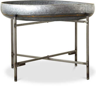 3r Studio Galvanized Metal Tray Table with Metal Stand