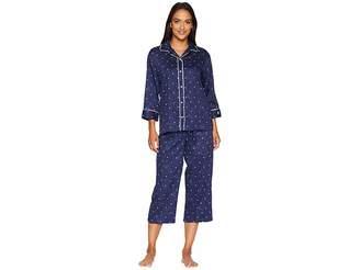 Lauren Ralph Lauren Rounded Collar Double Piped Capris Pajama Set