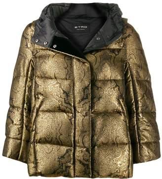 Etro Paisley padded hooded jacket