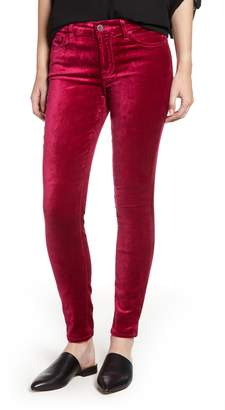 Jen7 Velvet Ankle Skinny High Waist Pants
