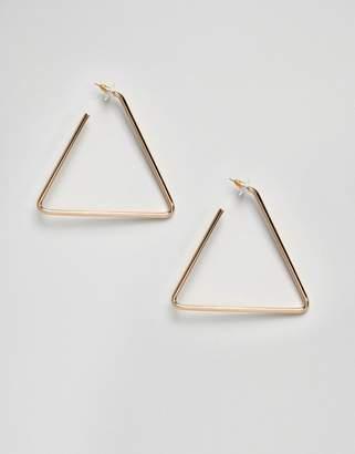 Aldo Gold Triangle Hoop Earrings