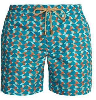 Thorsun - Titan Fit Blocks Print Swim Shorts - Mens - Blue