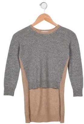 Unlabel Girls' Wool High-Low Sweater grey Unlabel Girls' Wool High-Low Sweater