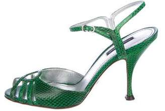 Dolce & Gabbana Watersnake High-Heel Sandals