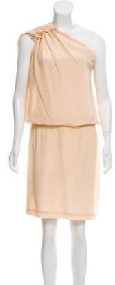 Philosophy di Alberta Ferretti Silk One-Shoulder Dress
