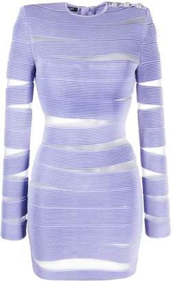 Balmain sheer cut-out bodycon dress